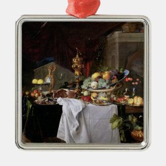 Still Life, 1640 Silver-Colored Square Decoration