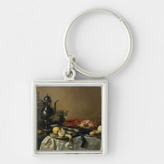 Still Life, 1643 (oil on panel) Silver-Colored Square Key Ring