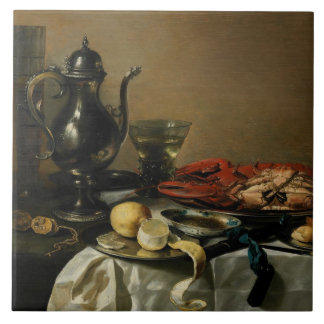 Still Life, 1643 (oil on panel) Tile