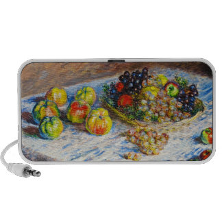 Still Life - Apples and Grapes Claude Monet Travelling Speaker