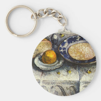 Still Life at breakfast table by Modersohn-Becker Keychains
