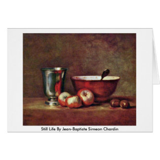Still Life By Jean-Baptiste Simeon Chardin Greeting Card
