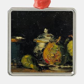 Still Life, c.1865 Silver-Colored Square Decoration