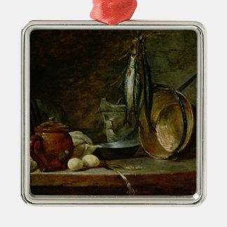 Still life: Fast Day Menu, 1731 Christmas Ornament