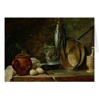 Still life: Fast Day Menu, 1731 Greeting Card