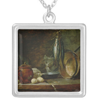 Still life: Fast Day Menu, 1731 Silver Plated Necklace