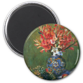 Still Life Flowers and Fruit by Pierre Renoir Magnet
