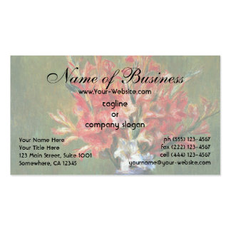 Still Life Flowers and Fruit by Renoir Pack Of Standard Business Cards