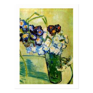 Still Life Glass, Carnations, Vincent van Gogh Postcard