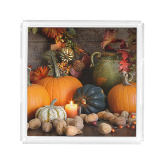 Still Life Harvest  Decoration For Thanksgiving Acrylic Tray