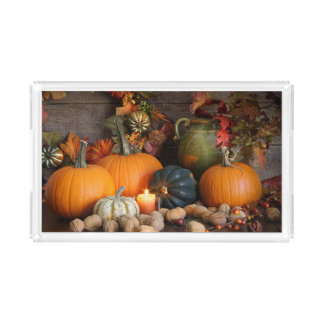 Still Life Harvest  Decoration For Thanksgiving Acrylic Tray