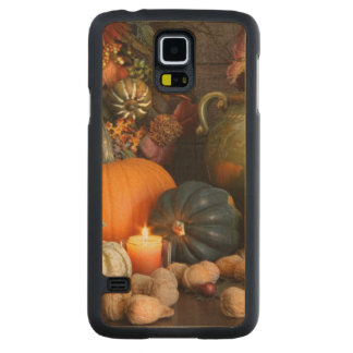Still Life Harvest  Decoration For Thanksgiving Carved Maple Galaxy S5 Case