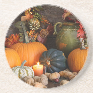 Still Life Harvest  Decoration For Thanksgiving Coaster