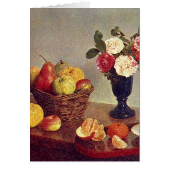Still life - Henri Fantin-Latour Card