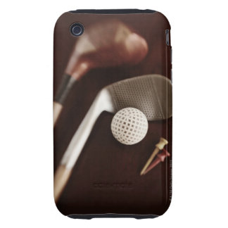 Still life if vintage golf clubs, tees and ball. tough iPhone 3 covers