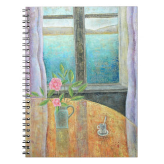 Still Life in Window with Camellia 2012 Spiral Notebooks