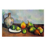 Still Life, Jar and Fruit by Paul Cezanne