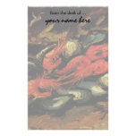 Still Life Mussels and Shrimp by Vincent van Gogh Stationery Paper