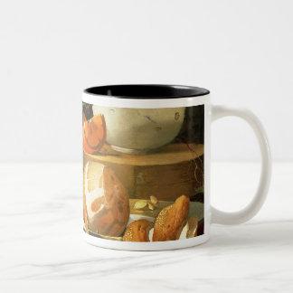 Still life of an orange Two-Tone coffee mug