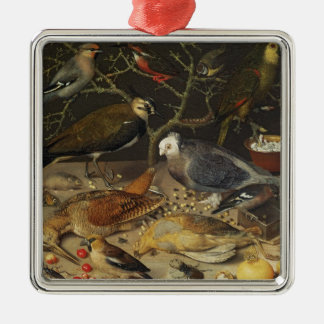 Still Life of Birds and Insects, 1637 Christmas Ornament