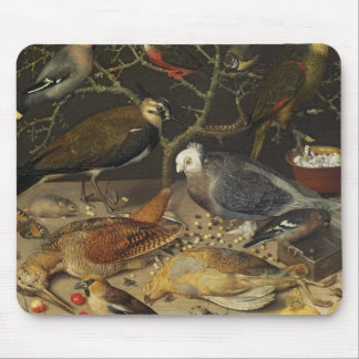 Still Life of Birds and Insects, 1637 Mouse Mat