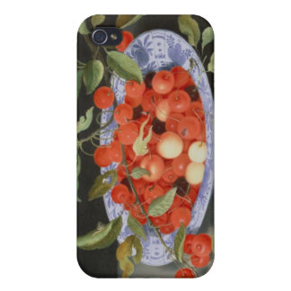 Still Life of Cherries and Peaches Case For The iPhone 4