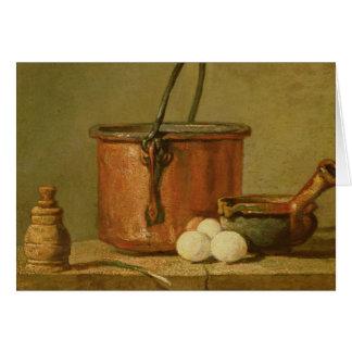Still Life of Cooking Utensils, Cauldron Card