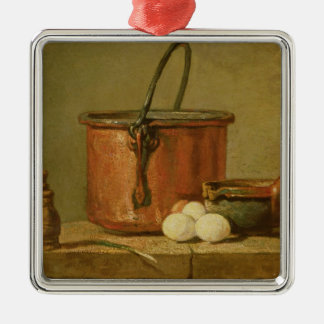 Still Life of Cooking Utensils, Cauldron Christmas Ornament