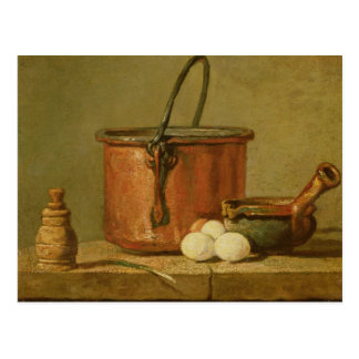 Still Life of Cooking Utensils, Cauldron Postcard