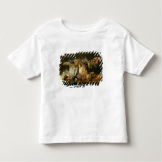 Still life of dead birds and a hare on a table toddler T-Shirt