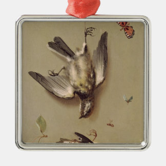 Still Life of Dead Birds and Cherries, 1712 Christmas Ornament