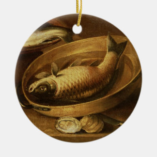 Still Life of Fish and Lemons Christmas Ornament
