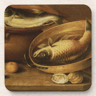 Still Life of Fish and Lemons Drink Coaster
