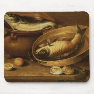Still Life of Fish and Lemons Mouse Mat