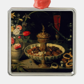 Still Life of Flowers and Dried Fruit, 1611 Christmas Ornament