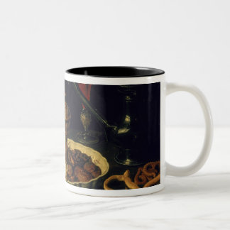 Still Life of Flowers and Dried Fruit, 1611 Two-Tone Coffee Mug