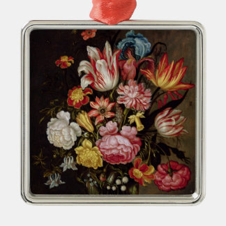 Still Life of Flowers in an Ovoid Vase Christmas Ornament