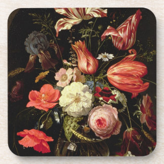 Still Life of Flowers on a Ledge Coasters