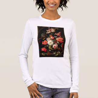 Still Life of Flowers on a Ledge Long Sleeve T-Shirt