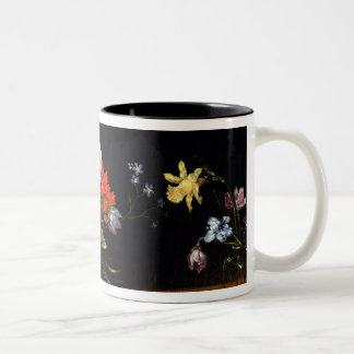 Still Life of Flowers Two-Tone Coffee Mug