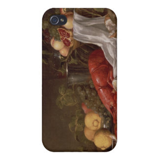 Still life of fruit and a lobster iPhone 4/4S cases