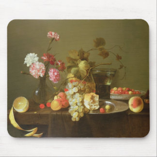 Still Life of Fruit and Flowers Mouse Mat