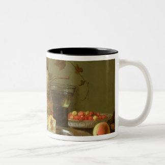 Still Life of Fruit and Flowers Mug