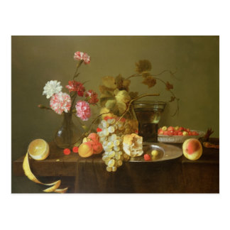 Still Life of Fruit and Flowers Postcard