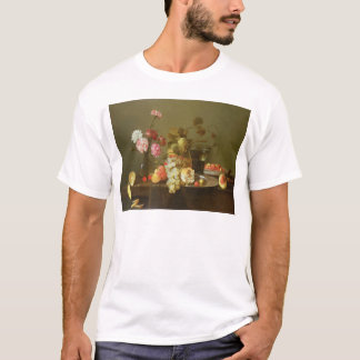 Still Life of Fruit and Flowers T-Shirt
