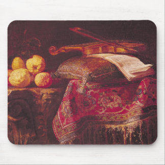 Still Life of Fruit and Musical Instruments Mouse Mat