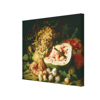 Still Life of Fruit on a Ledge Canvas Print