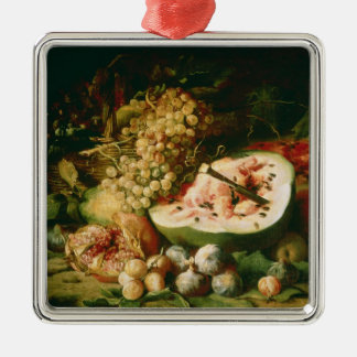 Still Life of Fruit on a Ledge Christmas Ornament