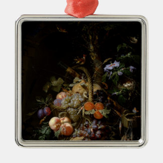 Still life of fruit Silver-Colored square decoration