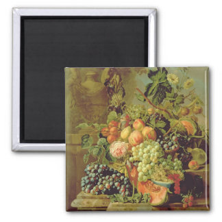 Still Life of Fruit Square Magnet